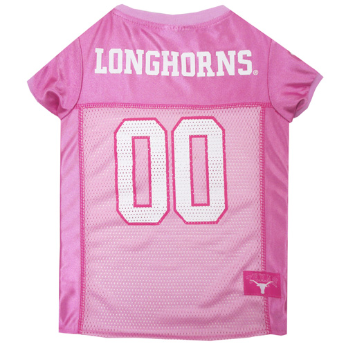 Texas Longhorns Pink NCAA Dog Jersey