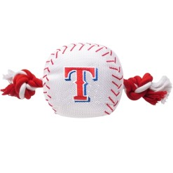 Texas Rangers MLB dog ball and rope toy