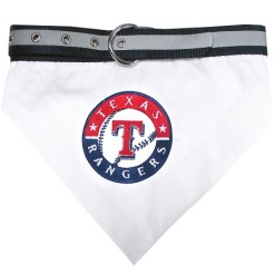 Texas Rangers MLB dog bandana and collar