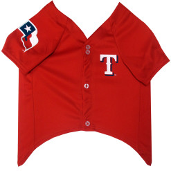 Texas Rangers MLB dog jersey front