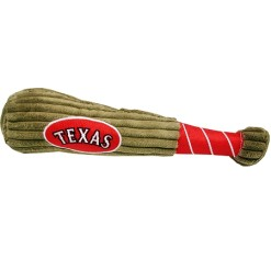 Texas Rangers MLB dog plush baseball bat