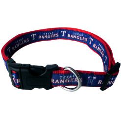 Texas Rangers MLB nylon dog collar