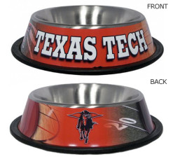 Texas Tech Red Raiders NCAA stainless dog bowl