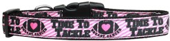 Time to Tackle Breast Cancer adjustable dog collar
