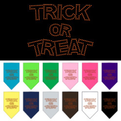 Trick or Treat rhinestone dog bandana