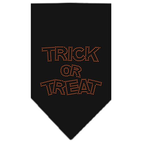 Trick or Treat rhinestone dog bandana black