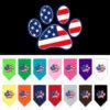 USA Flag American dog paw