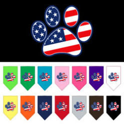 USA Flag American dog paw
