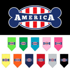 USA Stripe flag bone America dog bandana