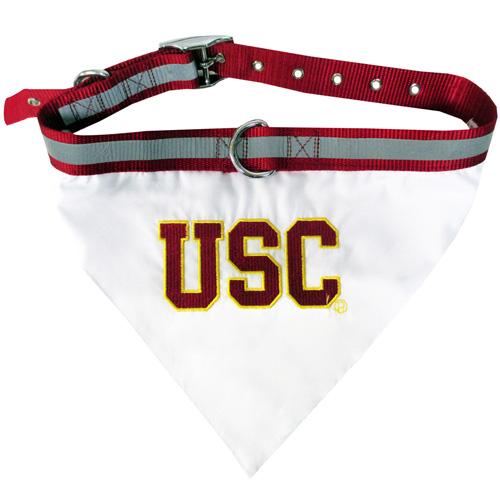 USC NCAA Dog Bandana and Collar
