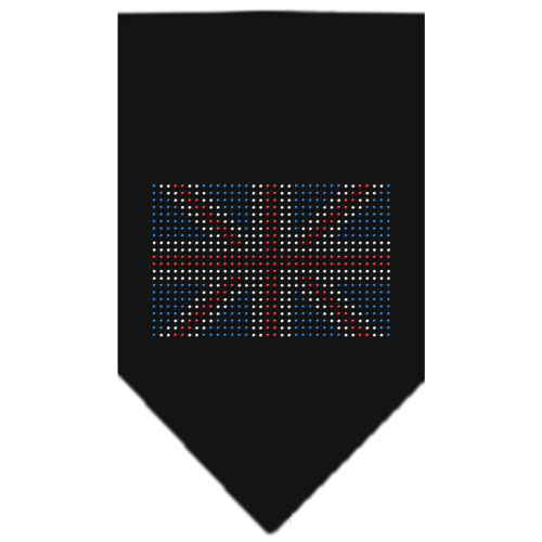 United Kingdom flag dog bandana black