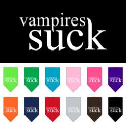 Vampires Suck dog bandana