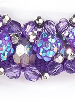 Violet Beeded Dog Collar Fireball