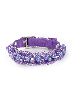 Violet Beeded Dog Collar Fireball