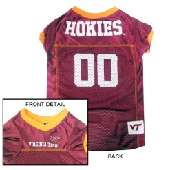 Virginia Tech NCAA dog jersey