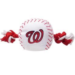 Washington Nationals MLB dog ball and rope toy