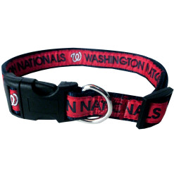 Washington Nationals MLB nylon dog collar