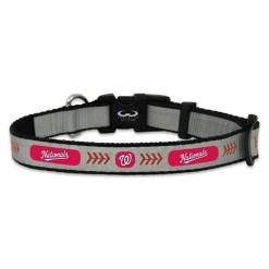 Washington Nationals reflective dog collar