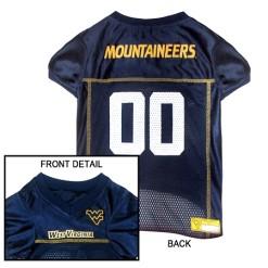 West Virginia Mountaineers NCAA dog jersey