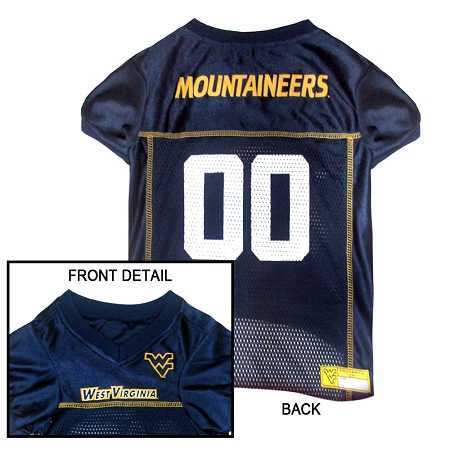 West Virginia Mountaineers NCAA dog jersey