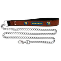 West Virginia Mountaineers NCAA leather dog chain leash
