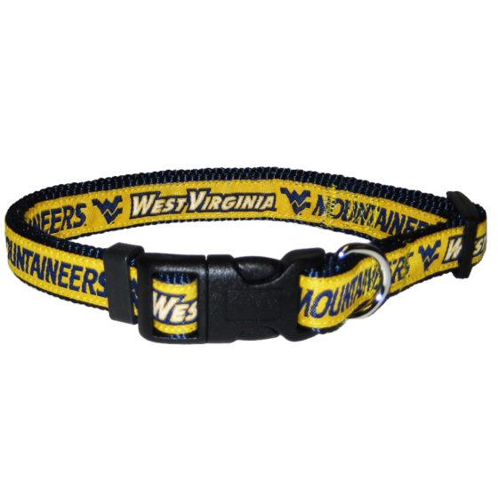 West Virginia Mountaineers NCAA nylon dog collar