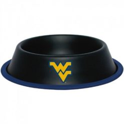 West Virginia Mountaineers Stainless Dog Bowl