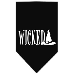 Wicked and Witches Hat dog bandana black