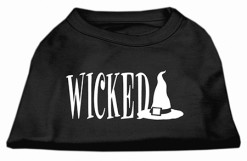 Wicked witch's hat sleeveless dog t-shirt black