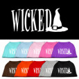 Wicked witch's hat sleeveless dog t-shirt colors
