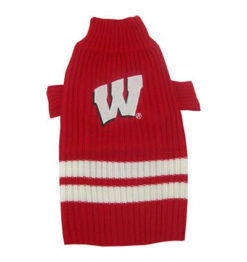 Wisconsin Badgers NCAA Turtleneck Dog Sweater