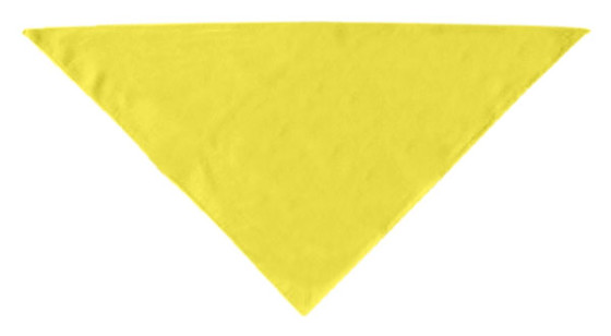 Yellow plain dog bandana