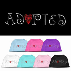 adopted rhinestone sleeveless dog t-shirt color