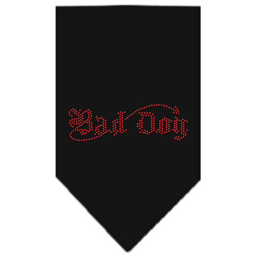 bad dog rhinestone bandana black