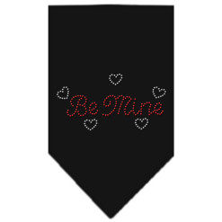 be mine hearts dog bandana black