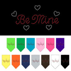 be mine hearts dog bandana colors