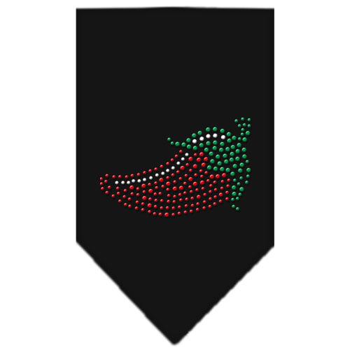 chili pepper bandana rhinestone black
