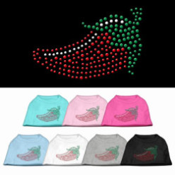 chili pepper rhinestone sleeveless dog t-shirt colors
