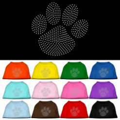 clear rhinestones dog paw flag dog t-shirt colors