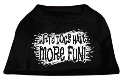 dirty dogs have more fun sleeveless dog t-shirt black
