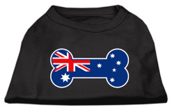 dog bone Australian flag outline dog screen print t-shirt black