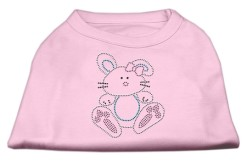 easter bunny rhinestone sleeveless dog t-shirt baby light pink