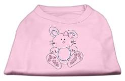 easter bunny rhinestone sleeveless dog t-shirt baby light pink