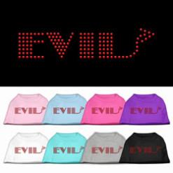 evil rhinestones dog t-shirt colors