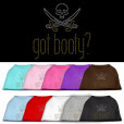 got booty pirate cutlasses rhinestones dog t-shirt colors