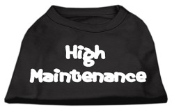 high maintenance dog t-shirt sleeveless black