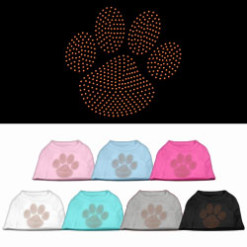 orange dog paw rhinestones dog t-shirt colors