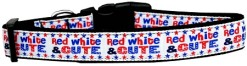 Patriotic red, white and cute dog collar Fourth of July