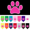 pink polka dot paw dog bandana