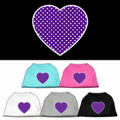 purple polka dot Screenprint hearts t-shirt sleeveless
